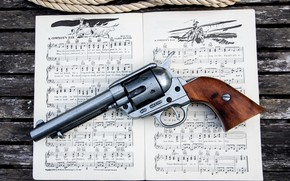 Picture Revolver, Songbook, Cowboy's Day, Colt 45