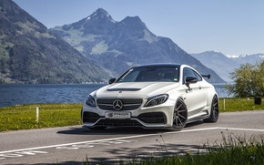 Wallpaper Mercedes, C205, PD65CC, Mercedes, C-Class, Prior-Design, coupe, supercar, AMG, Coupe, Mercedes-Benz