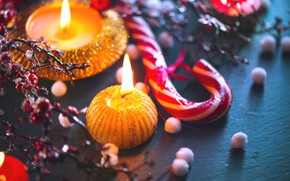Picture candles, New Year, Christmas, wood, Merry Christmas, cookies, decoration, gingerbread, gingerbread