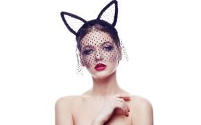 Picture makeup, sponge, veil, Alena, Evgeniy Bulatov