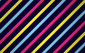 Wallpaper rainbow, paint, strip, line
