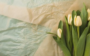 Picture flowers, bouquet, tulips, flower, yellow, tulips, paper