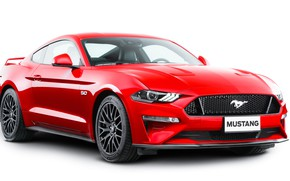 Picture red, Ford, Fastback, 2018, Mustang GT