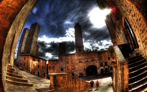 Picture HDR, The city, Italy, Building, Italy, Italia, Town