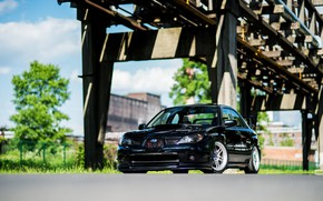 Picture Subaru, Impreza, WRX, STI, Green, Bridge, Black