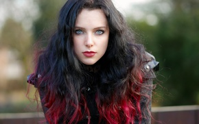 Picture girl, face, style, model, hair, color