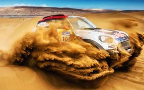 Picture Sand, Mini, Desert, Speed, Rally, SUV, Rally, 105, Dune, X-Raid Team, MINI Cooper, Silk road, ...