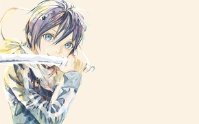 Picture look, background, sword, yato, A Homeless God, Noragami, Yato