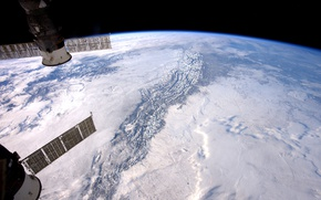 Wallpaper NASA, Rocky mountains, ISS, planet, Earth