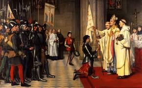 Picture 1901, castle Museum, Joan of Arc, Banner, Blois