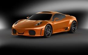 Picture supercar, orange, Novitec TuLesto