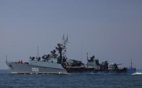 Picture ship, Navy, anti-submarine, small, The black sea, project 1124, Aleksandrovac