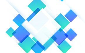 Picture abstraction, green, Wallpaper, abstract, white, geometry, blue, background, squares