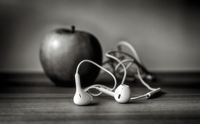 Wallpaper headphones, iphone, ☊, ,, b-b, Apple