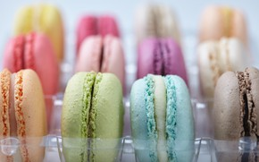 Wallpaper colorful, dessert, sweet, sweet, dessert, cookies, macaron, almond, macaroon