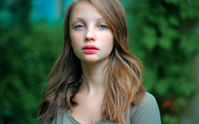 Picture portrait, the beauty, blue-eyed