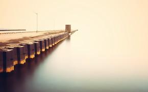Picture sea, fog, pierce
