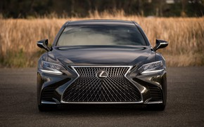 Wallpaper Sight, LS500, Lexus, Front, LED, Japan