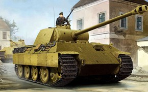 Picture Panther, tank, Panther, PzKpfw V, Panzerkampfwagen V, The Wehrmacht, German medium, or heavy