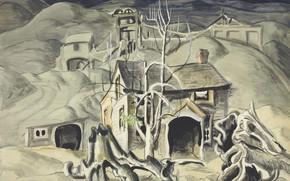 Wallpaper 1918, Charles Ephraim Burchfield, legionarism, Deserted Miner's Home
