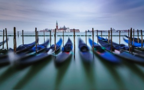 Picture boats, hdr, Italy, Venice, gondola