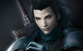 Picture hair, soldiers, guy, Final Fantasy 7, Crisis Core, zack fair