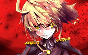 Picture red, girl, soldier, military, war, Germany, smile, anime, cross, blonde, asian, manga, mad, yellow eyes, …