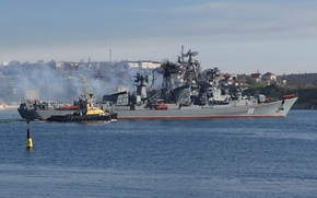 Picture ship, tug, The black sea, Quick-witted, guard