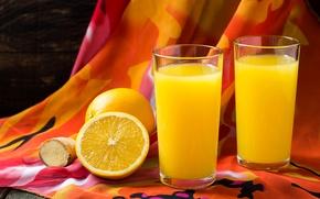 Picture oranges, juice, juice, fresh, citrus, fruit, orange, drinks