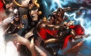 Picture One, comic, marvel, Thor, Thor, Marvel Comics, Odin, Lady Loki, Balder, Lady Loki