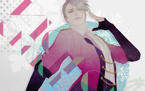 Picture anime, art, guy, Yuri on Ice, Yuri on the ice, Viktor Nikiforov