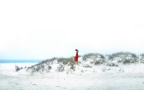 Picture girl, shore, sea