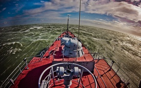 Picture storm, Tatarstan, rocket ship
