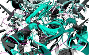 Picture anime, Vocaloid, Vocaloid, green