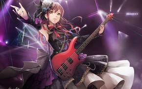 Picture girl, music, guitar, anime, art, hiroki ree, imai lisa, bang dream!