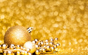 Picture gold, toy, new year, ball, beads