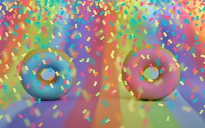 Picture background, colored, donuts