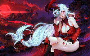 Picture Girl, Night, Mask, League of Legends