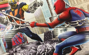 Picture cinema, spider, logo, boy, Marvel, fight, movie, Spider-man, hero, Boy, film, mask, Spiderman, uniform, yuusha, ...