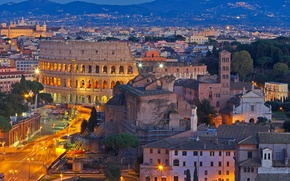 Picture landscape, mountains, home, Rome, Colosseum, Italy, panorama