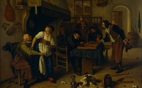 Picture oil, picture, canvas, genre, Ian Havickszoon Walls, Interior Of A Tavern