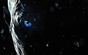 Picture zombie, ice, blizzard, blue eyes, snow, face, A Song of Ice and Fire, Game of …