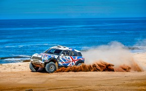 Wallpaper Raid, X-Raid, Speed, Britain, Vinyl, Desert, Race, Rally, Heat, Beach, Mini, Sea, Rally, Sport, Coast, ...