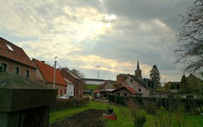 Picture Light, Halo, Nature, Clouds, Landscape, Belgium, architecture, Photography, Church, Cloud, Countryside, Weather, Brabant Wallon, Nivelles, …