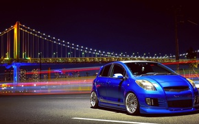 Picture bridge, Toyota, hatchback, Discover The Toyota, Yaris