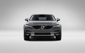 Picture Volvo, Car, Silver, Cross Country, Universal, 2017, V90