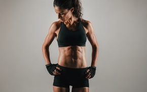 Wallpaper workout, female, fitness