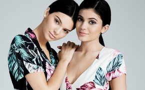 Picture girls, celebrity, sisters, Kylie Jenner, Kendall Jenner