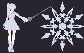 Picture kawaii, sword, dress, anime, snow, pretty, ken, blade, bishojo, seifuku, White Snow, RWBY, japonese