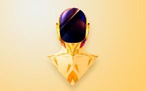 Picture Music, Background, Mask, Gold, Daft Punk, Daft Punk, Guy Manuel de Homem Christo, Guy Manuel